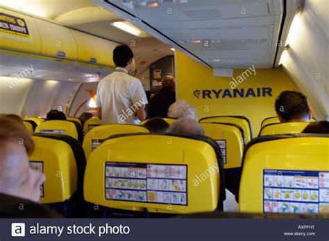 boeing 737 cabin ryanair boeing 737 800 jet passenger cabin stock photo