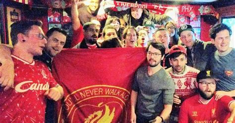 mike myers football hollywood star mike myers joins liverpool fans watching