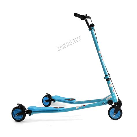 swing scooters foxhunter 3 wheel swing tri slider motion winged push