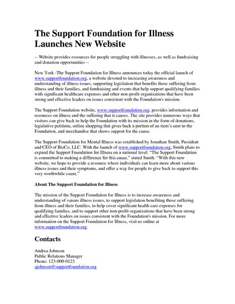 product launch press release template 10 best images of new website press release template new