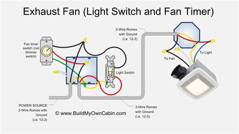 wiring diagram for a bathroom fan with timer wiring