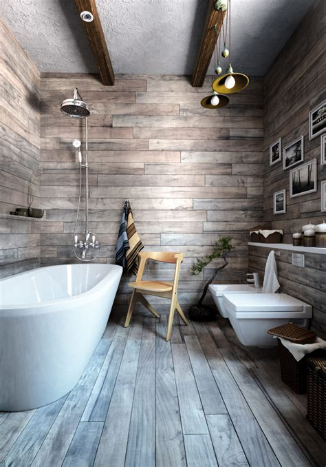 wooden cladding for bathrooms small industrial apartment with exposed brick walls digsdigs