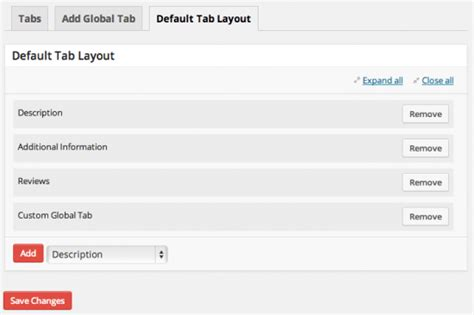 default layout manager of an applet woocommerce tab manager woocommerce docs