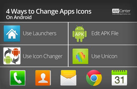 change app icon android 4 ways to change apps icons on android without root aw center