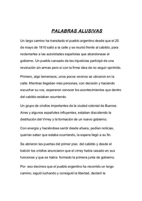 palabras alusivas 25 de mayo bicentenario acto 25 de mayo 2011
