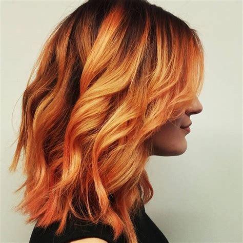 hairstyles with orange highlights 136 besten 017 pflanzenfarben bilder auf pinterest