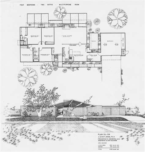 my home blueprints eichler floor plans fairhills eichlersocaleichlersocal