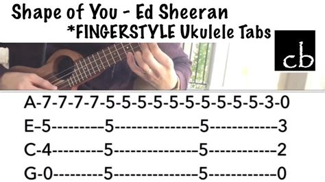 fingerstyle tutorial you are my sunshine shape of you ed sheeran fingerstyle ukulele tutorial