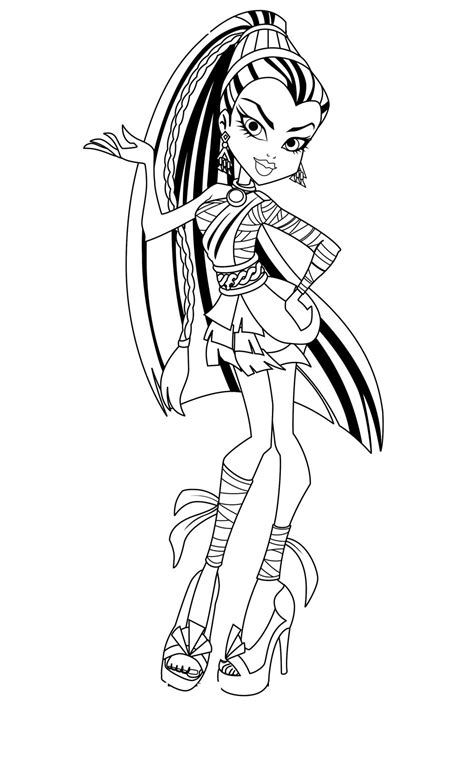 monster high halloween printable coloring pages free printable monster high coloring pages for kids
