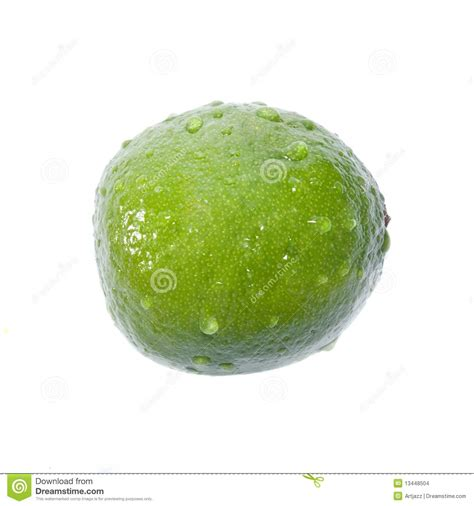 lime green water green lime with water drops stock images image 13448504
