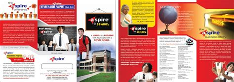 school brochure design templates sanjeev sle designs aspire school brochure