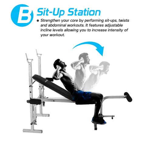 elevated bench press home hi grade steel gym weight station bench press multi