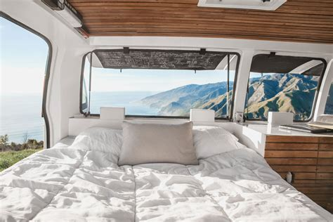 Clever Storage Ideas For Small Bedrooms diy cargo van conversion into a stylish mobile home vanual