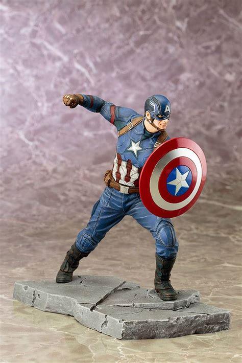 Boneka Captain America Civil Wars Import captain america civil war artfx statue 1 10 captain