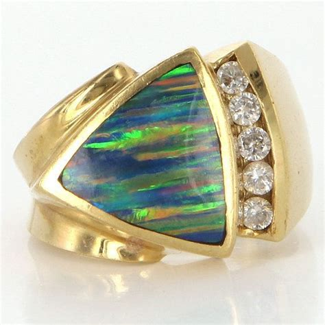 black opal mens ring 514 best images about unique rings on pinterest blue