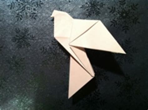 How To Make An Origami Dove - paper dove and diagrams