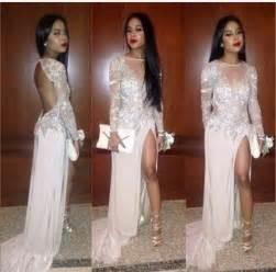 Formal evening dresses open backs prom dresses white prom dress