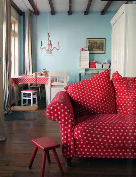 polka dot sofa 25 adorable polka dot interior tips decorazilla design blog