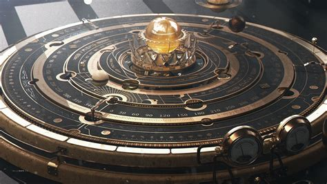 astrolabe steampunk planet astronomy hd wallpapers