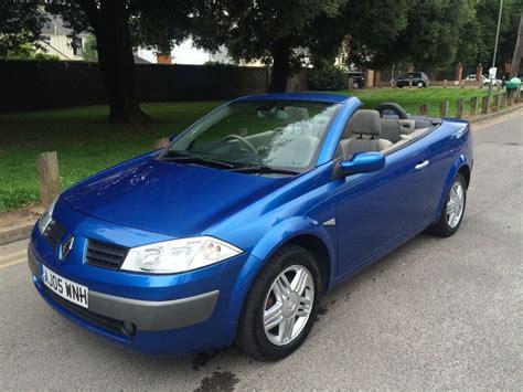 megane renault convertible renault megane convertible 1 9 diesel 2005 blue in
