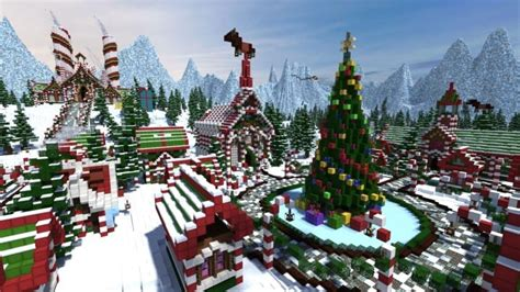 minecraft christmas house santa s gingerbread christmas city minecraft building inc