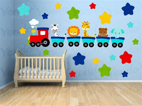 wall stickers for kids bedrooms wall decals for kids bedroom animal train wall decal