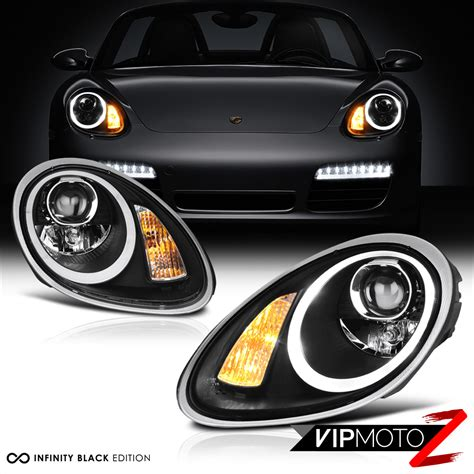 porsche headlights 2005 2008 porsche 987 boxster cayman s black halogen led