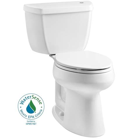home depot comfort height toilet kohler highline classic touchless comfort height complete