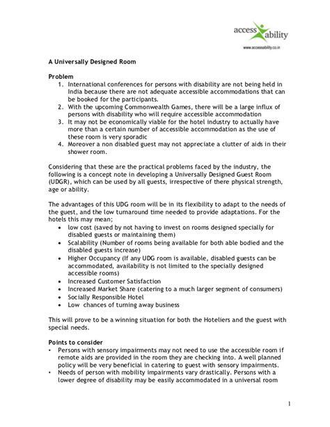 s room summary universally designed guest room summary