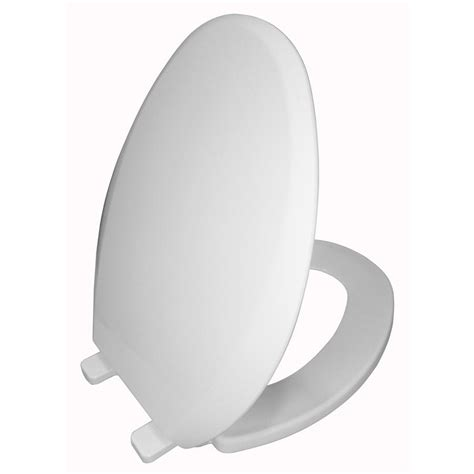 white plastic elongated toilet seat shop aquasource white plastic elongated toilet