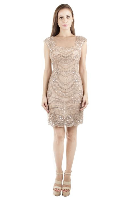 Beaded Sheath Dress plushporter papell beaded sheath dress
