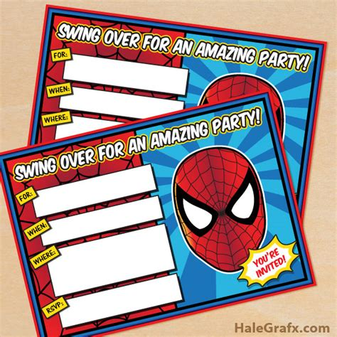printable birthday cards spiderman free printable spider man birthday invitation