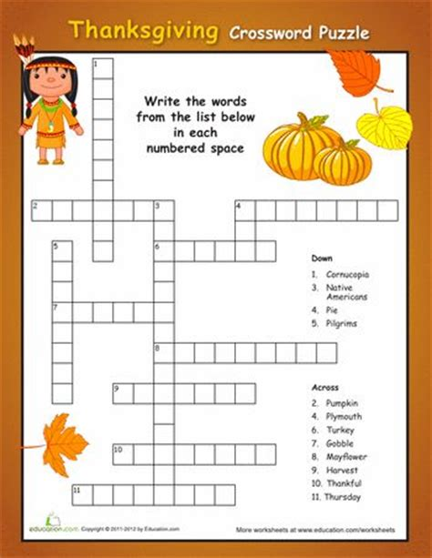 printable turkey puzzle simple thanksgiving crossword puzzle thanksgiving