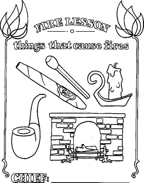 house of hugs fire safety coloring page