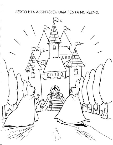 Livro de história Cinderela para colorir, pintar, imprimir