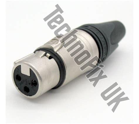 Neutrik Xlr Canon Connector Nc3fxx 3 pin xlr cable mount connector neutrik nc3fxx technofix uk