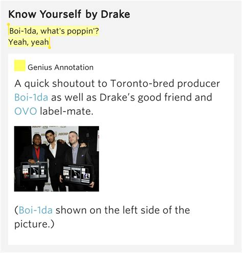 drake know yourself lyrics boi 1da what s poppin yeah yeah know yourself