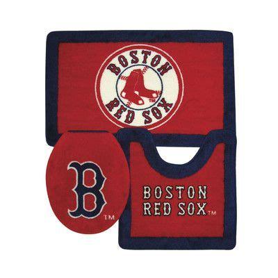 Boston red sox bathroom rug set baseball bathroom pinterest