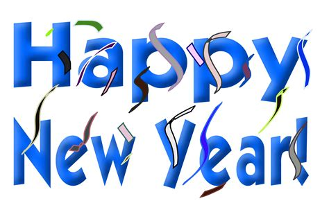 new year graphic free clipart happy new year