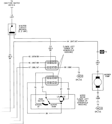 jeep tj wiper motor wiring diagrams repair wiring scheme