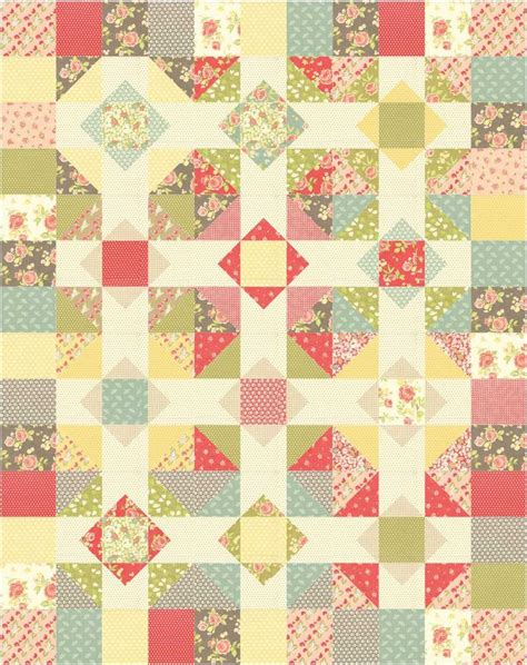 Patchwork Quilt Size Chart - patchwork quilt pattern using layer cakes or quarters