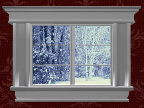 image gallery snow window