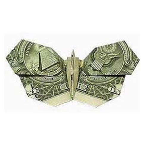 Easy Origami Dollar Bill - money origami butterfly paper origami guide