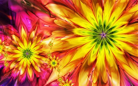 wallpaper abstract colorful flower flowers bright abstract colorful fractal wallpaper