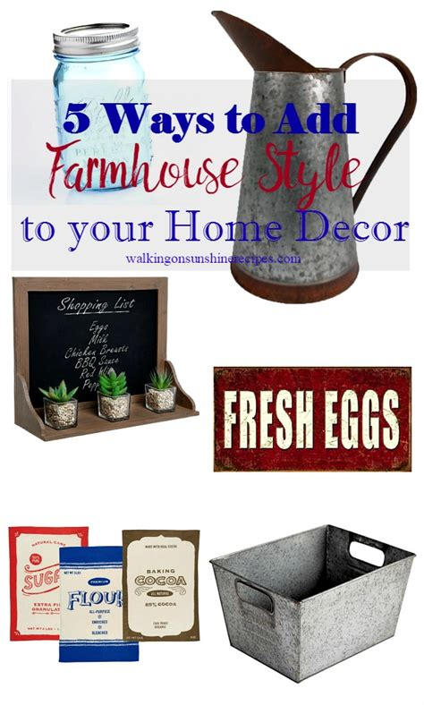 5 easy ways to add farmhouse style to your home decor