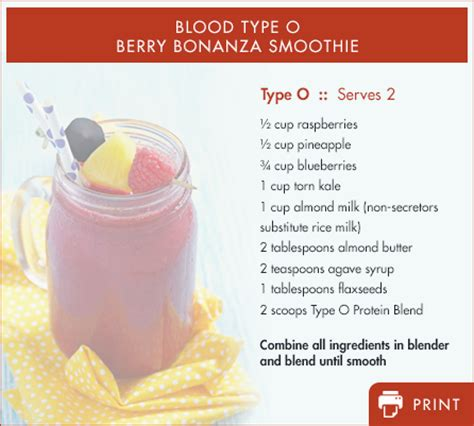 blood type 0 fruits blood type specific energy boosting smoothies d adamo