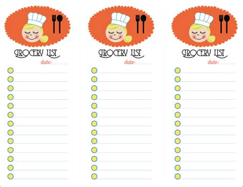 printable grocery list for word grocery list template 7 free word pdf documents