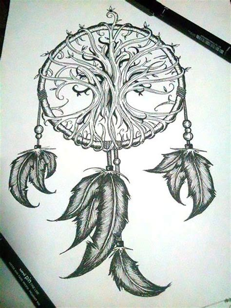 dream catcher tattoo with names in feathers dreamcatcher with indian feathers tattoo design
