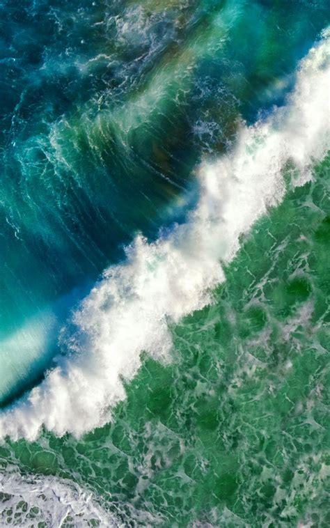 blue green ocean waves  pure  ultra hd mobile wallpaper