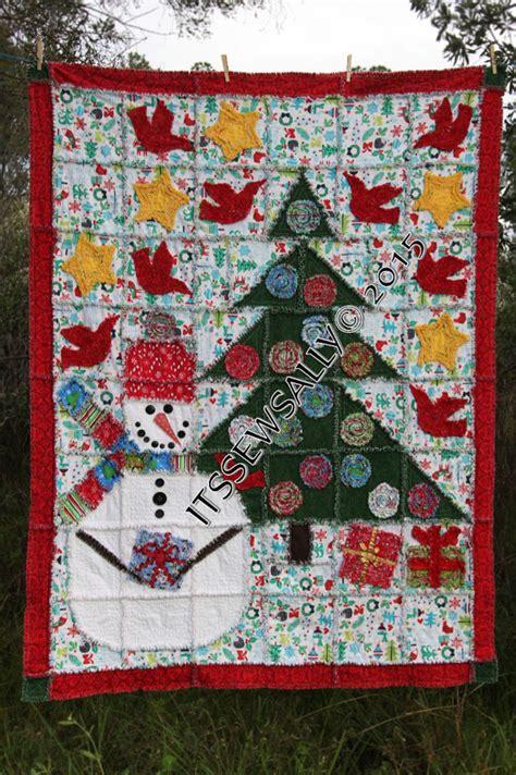 Snowman Rag Quilt Pattern by Rag Quilt Pattern Snowman Rag Quilt 53 X